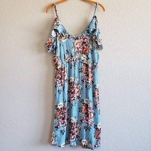 Umgee | Cold Shoulder Floral Dress